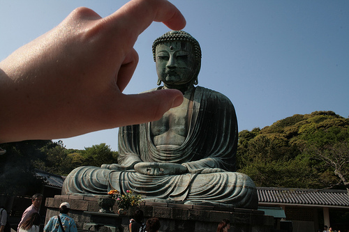 Crushing Buddha's head